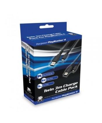 Pack duplo de cabos de carregamento para PS4 - TRZTCABLEPACK