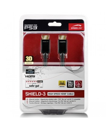 Cabo Speedlink Shield HDMI com Ethernet PS3 - 3m - SL-4416-BK-300