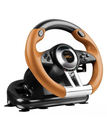 DRIFT O.Z. Racing Wheel - for PS3, black-orange - SL-4495-BKOR