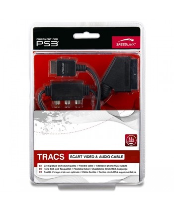 TRACS Scart Video Audio Cable - for PS3, black - SL-4412-BK