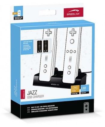 Carregador USB Speedlink Jazz  para WiiU preto