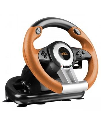 DRIFT O.Z. Racing Wheel PC, black-orange - SL-6695-BKOR-01