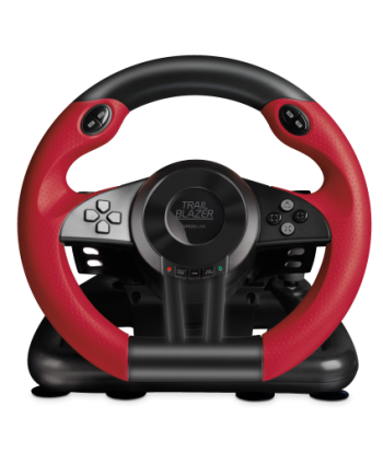 TRAILBLAZER Racing Wheel for PS4/Xbox One/PS3, Black - SL-450500-BK