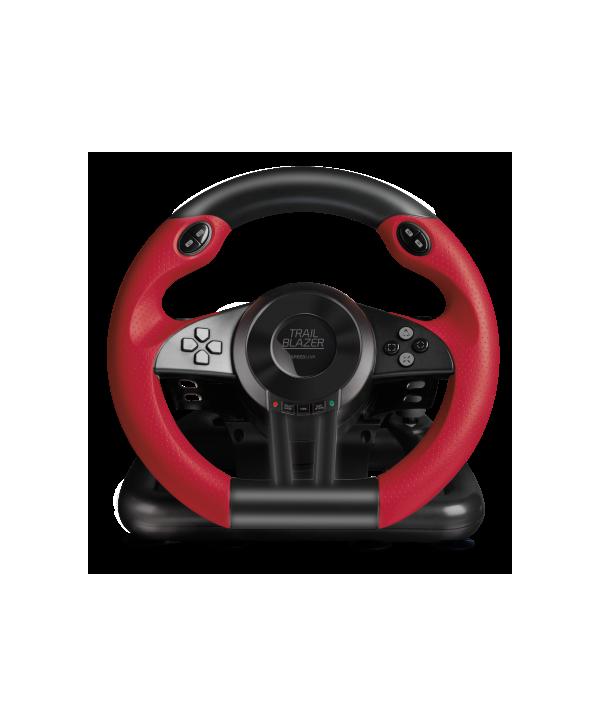 TRAILBLAZER Racing Wheel for PS4/Xbox One/PS3, Black