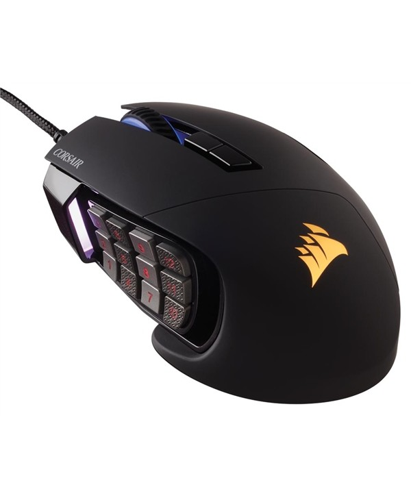 Rato Corsair Scimitar PRO RGB, Black, Optical, 16000DPI