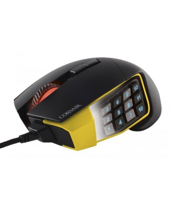 Rato Corsair Scimitar PRO RGB, Black-Yellow, Optico, 16000D - CH-9304011-EU