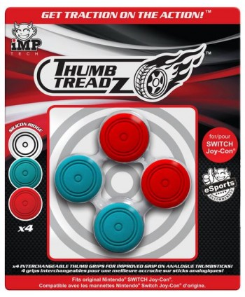 Thumb Treadz 4 Pack Red/Blue para Switch