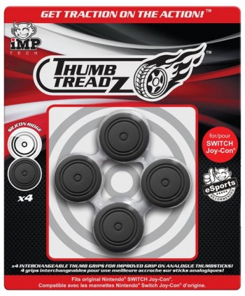 Thumb Treadz 4 Pack black para Switch