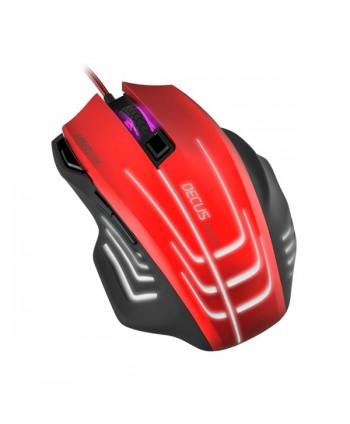 DECUS  RESPEC Gaming Mouse black-red