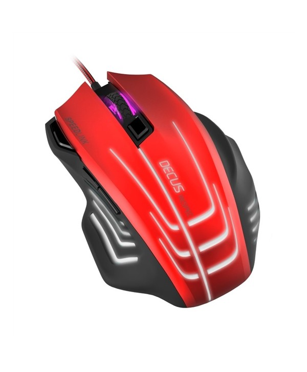 DECUS  RESPEC Gaming Mouse black-red