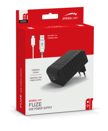 FUZE USB Power Supply - for Nintendo Switch, black