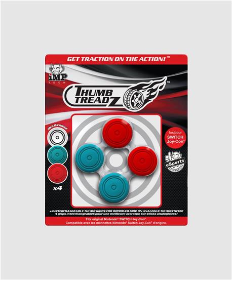 Thumb Treadz 4 Pack Red/Blue para Switch
